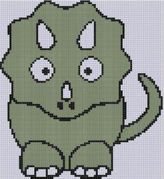 Dinosaur 2 Cross Stitch Pattern