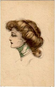 Gibson Girl.  Although Gibson drew women with hair arranged in a number of ways, the one most commonly associated with his work is this romantic, loose updo.