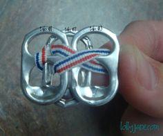 Pop Tab Bracelet {tutorial} - Lolly Jane