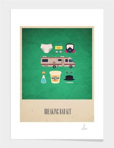 """The Breaking Bad Kit"", Exclusive Edition Fine Art Print by Alizée Lafon - From $39.00 - Curioos"