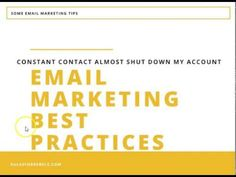 e-Mail Marketing Tips & Best Practices | Constant Contact Almost Shutdown My Account!!!! -  http://www.wahmmo.com/e-mail-marketing-tips-best-practices-constant-contact-almost-shutdown-my-account/ -  - WAHMMO