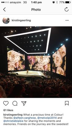 Digital floral backdrop – all the beauty, at a fraction of the work it would take to actually create a floral backdrop! Stage Lighting Design, Stage Set Design, Church Stage Design, Event Design, Exibition Design, Concert Lights, Interactive Installation, Floral Backdrop, Event Themes