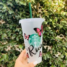 Your place to buy and sell all things handmade - Starbucks Tumbler Cup, Starbucks Cup Art, Disney Starbucks, Personalized Starbucks Cup, Custom Starbucks Cup, Personalized Cups, Starbucks Drinks, Starbucks Coffee, Coffee Drinks