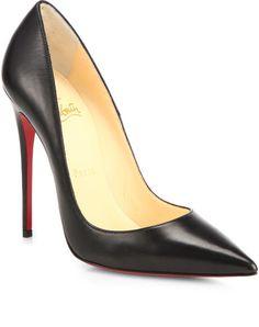 Christian Louboutin High Heels 37.5 rote Sohle Plateau Heels