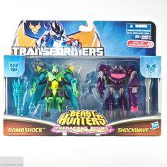 Transformers Prime Beast Hunters Predacons Rising Bombshock & Shockwave Target #Hasbro