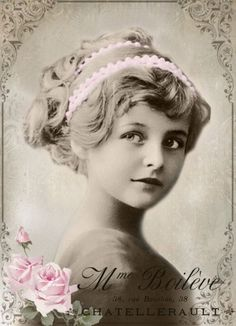 Vintage girl digital collage p1022 Free to use