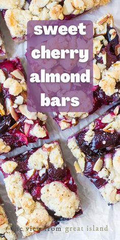 Sweet Cherry Recipes, Cherry Desserts, Almond Recipes, Recipes With Fresh Cherries, Cherry Cake, Canned Cherries, Sweet Cherries, Delicious Desserts, Dessert Recipes
