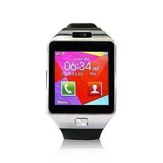 "YUNTAB S Bluetooth Smart Watch pantalla LCD 1.56"" (240x240), Bluetooth 3.0 ,SIM tarjeta, CON CÁMARA smartphone Android Samsung S2/S3/S4/Note 2/Note 3 HTC Nokia IOS Apple iphone 4/4S/5/5C/5S/6 (negro) #friki #android #iphone #computer #gadget"