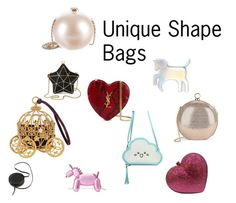 """""""Unique Shape Bags"""" by whitecastlenine on Polyvore featuring Aspinal of London, Yves Saint Laurent, Kate Spade, Sara Barner, Chanel, Halston Heritage, Posh Girl and WithChic"""