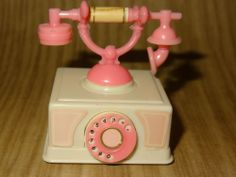 VINTAGE BARBIE ACCESSORY 2 pc princess phone