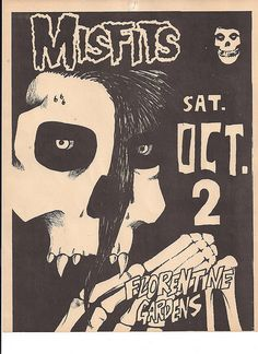 Misfits in Hollywood, CA Rock Posters, Band Posters, Concert Posters, Music Posters, Glenn Danzig, Misfits Band, Danzig Misfits, Punk Poster, Music Flyer