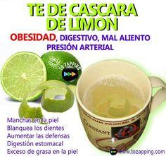 Remedios caseros té de cáscara de limón.Las propiedades del té de cáscara de limón para la salud son significativas, ya que posee múltiples aplicaciones que