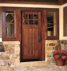Rustic knotty alder entry doors with sidelights clearance for Front door johnson valley