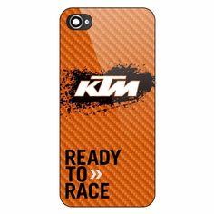 Cheap KTM Logo Orange Fiber Ready To Race Hard Plastic Case iPhone 5/5s 6/6sPlus #UnbrandedGeneric