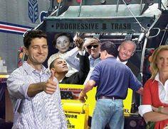 Funny pic - into the progressive trash heap...