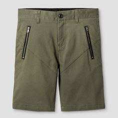 Boys' Chino Shorts Art Class Olive 12, Boy's, Green