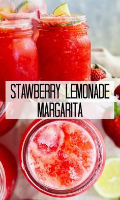 This Strawberry Lemonade Margarita is the perfect summertime drink! It's so refreshing, easy to make, and perfect for a party! This Strawberry Lemonade Margarita is the perfect summertime drink! It's so refreshing, easy to make, and perfect for a party! Easy Alcoholic Drinks, Alcholic Drinks, Fun Drinks, Yummy Drinks, Alcoholic Punch Recipes, Rum Punch Recipes, Pina Colada, Strawberry Drinks, Strawberry Lemonade Punch