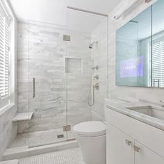 western Bathroom Decor Amazing Small Master Bathroom Shower Remodel Ideas and Design 36 Houzz Bathroom, Master Bathroom Shower, Bathroom Showers, Ikea Bathroom, Family Bathroom, Downstairs Bathroom, Bad Inspiration, Bathroom Inspiration, Bathroom Ideas