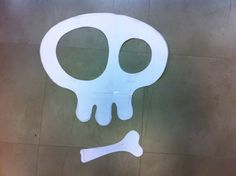 New Skully Mirror - this is the paper template and tracing...