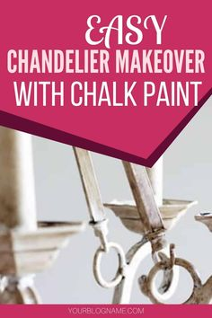 Looking for a way to transform that outdated chandelier? This easy DIY chalk paint chandelier makeover will bring your chandelier from drab to fab! Diy Furniture On A Budget, Diy Outdoor Furniture, Diy Home Decor On A Budget, Diy Furniture Plans, Diy Furniture Projects, Diy Home Decor Projects, Furniture Makeover, Painted Chandelier, Old Chandelier