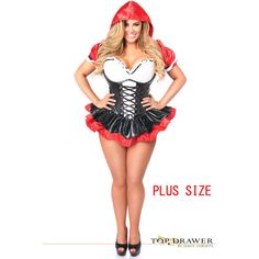 top drawer plus size premium red riding hood corset dress costume 176 liked - Swat Costumes For Halloween