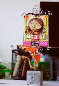 Le Gri-gri de bureau N° 3 sera pour une autre Sylvie ! Illustrations, Christmas Ornaments, Holiday Decor, Home Decor, Other, Desk, Objects, Board, Kid