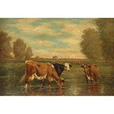 "19th Century Dutch Cow Paintings | 609. Vincente Izquierdo (Italian, 19th-20th century), ""Madonna"", c ..."