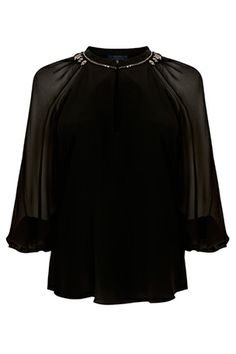 Ellie sheer sleeve embellished top #Bastyan #SS14