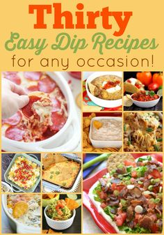 Whether you are watching the big game or having family movie night, there are plenty of easy dip recipes in this roundup to satisfy everyone!