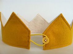 Image of Mustard Felt Crown