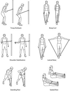Resistance Band Exercises. Gonna have to do something about these arms!