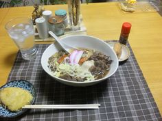 2013/01/18 Beef Udon. 肉うどん、稲荷