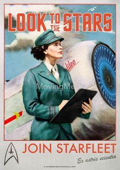 « Join Starfleet - Vintage Style Retro Recruitment Poster » par MovingMedia