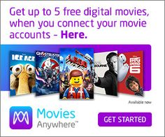 #MoviesAnywhere #FREEApp With Movies Anywhere, you can log into our free app, connect your #digital retailer accounts, and find the movies you've purchased (from many different places), in one fun, functional place. Get up to 5 FREE Digital Movies when you connect your movie accounts Movies Anywhere is the only app that offers … #affiliate
