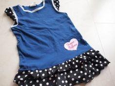 節約生活(仮): 【子供服のリメイク】スカートのフリルでフリル付きの袖にする方法