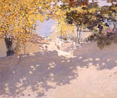 """Bato Dugarzhapov, """"Descent to the sea #2,"""" oil on canvas, 19 5/8x23 5/8"""". 2001. Such gorgeous use of light, shadow, and soft colors! The shadows really inspire me to work on this in my own paintings."""