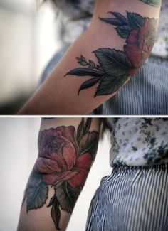 Floral tattoo by Alice Carrier of Wonderland Tattoo. My absolute favorite!