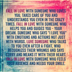 Fall in love..
