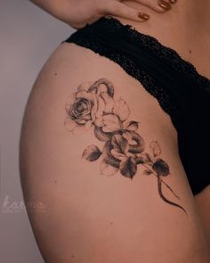 Feed Your Ink Addiction With 50 Of The Most Beautiful Rose Tattoo Designs For Men And Women - KickAss Things Piercing Tattoo, Arm Tattoo, Hand Tattoos, Body Art Tattoos, Sleeve Tattoos, Cobra Tattoo, Arabic Tattoos, Ear Piercings, Waist Tattoos