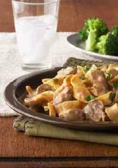 Slow-Cooker Beef Stroganoff – Just prep some pasta while hearty beef and fresh garlic, onions and mushrooms simmer away.