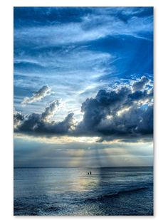 Beach Art Print from Painting Colorful Ocean Sea Seascape Landscape Blue CANVAS Ready To Hang Large Artwork FREE Shipping S/H via Etsy