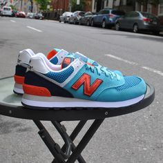 New Balance - 574 Women's Summit - Blue w/ Purple and Orange