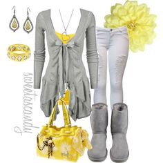 """""""mellow yellow..."""" by sweetlikecandycane on Polyvore"""