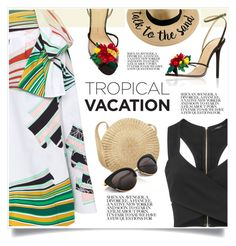 """Tropical Vacation"" by jecikilicica ❤ liked on Polyvore featuring Charlotte Olympia, Nicholas Kirkwood, Emilio Pucci and TropicalVacation"