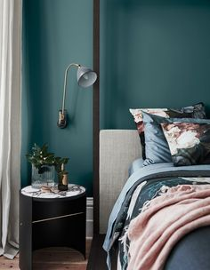Lilac, Sage & Other Big Colours for 2019 dulux deep teal interior design farbtrends 2019 Best Bedroom Colors, Dulux Bedroom Colours, Dulux Paint Colours 2019, Dulux Paint Colours Australia, Bright Bedroom Colors, Paint Colors, Wall Colors, Decoration Inspiration, Decor Ideas