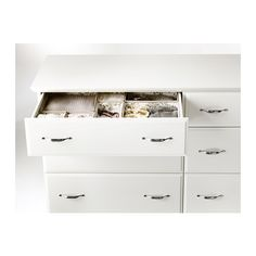 BIRKELAND 6-drawer dresser IKEA Extra roomy drawers. Smooth running drawers with pull-out stop.