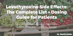 In this video, I go over the complete list of Levothyroxine side effects ranging from weight gain to hair loss and everything in between. Yes, Levothyroxine . Thyroid Hormone, Thyroid Disease, Thyroid Health, Health Diet, Thyroid Cancer, Thyroid Issues, Thyroid Symptoms, Thyroid Diet, Thyroid Gland