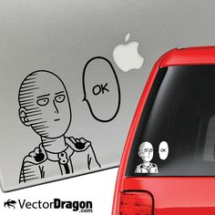 Saitama One Punch Man Anime Vinyl Decal for Laptop by VectorDragon