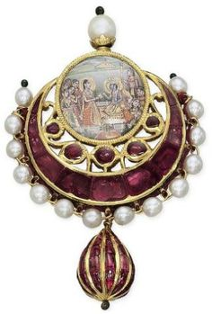 Radhakrisna pendant, India 19th c. Christies-Tumblr