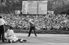 Nicklaus on his way to his 17-under record, which was tied by Ray Floyd in 1976 but wasn't broken until 1997, when Tiger Woods won by 12 strokes with a total of 18-under 270.